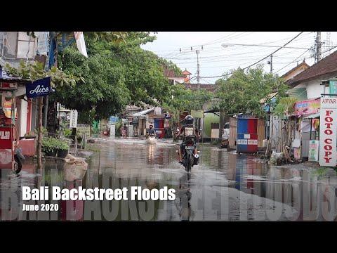 BALI BACKSTREET FLOODS JUNE 2020