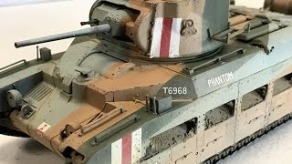 Building the Tamiya 1/35 Matilda infantry tank plastic model