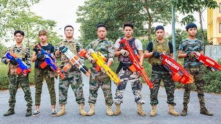 LTT Game Nerf War : Winter Warriors Nerf Guns MASTER Fight Criminal Group