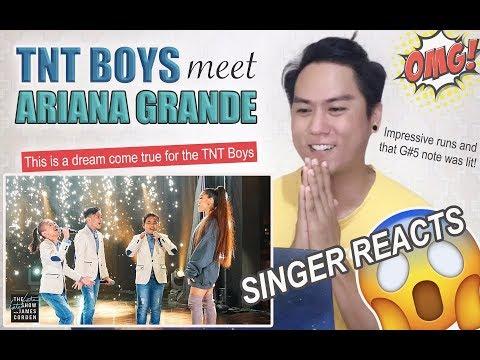 Ariana Grande Surprises TNT Boys   REACTION
