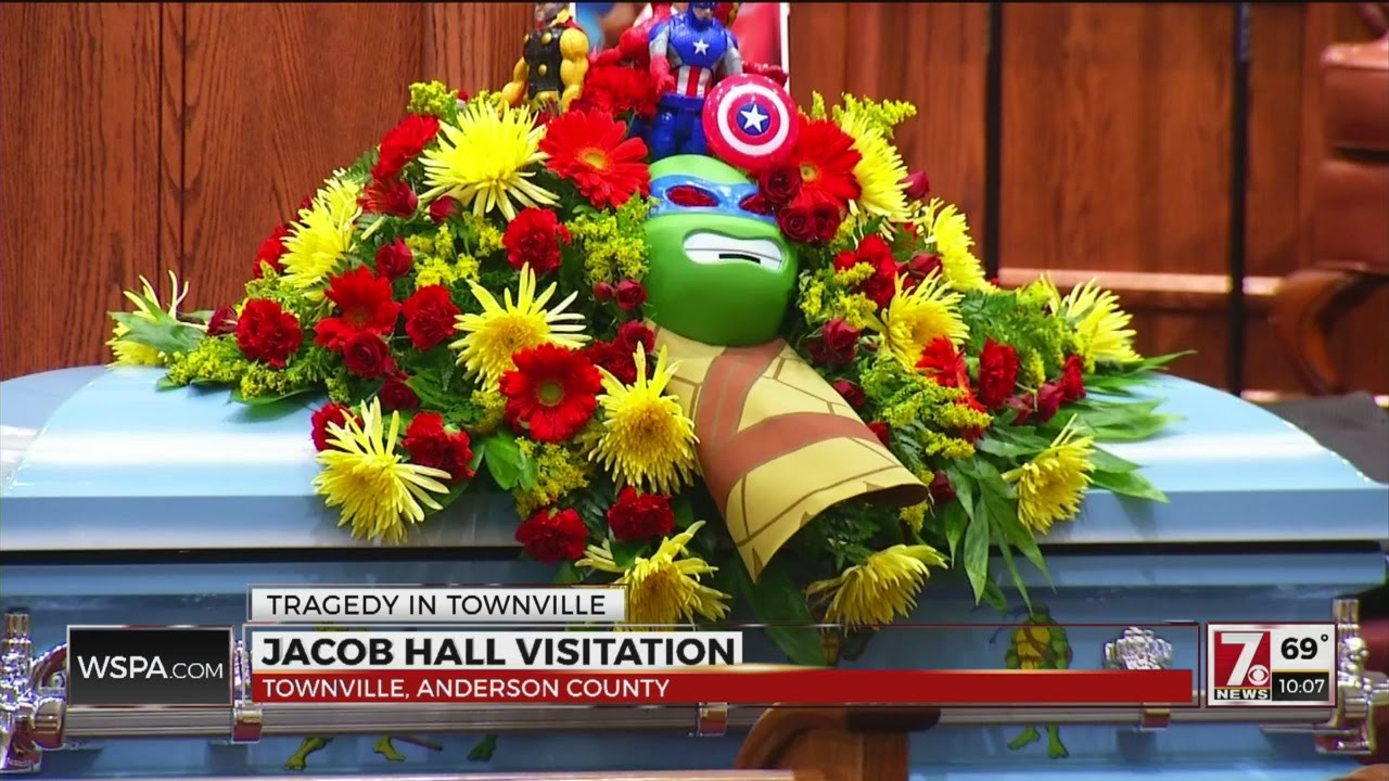 Superheroes Assemble Day Before Jacob Halls Funeral Youtube