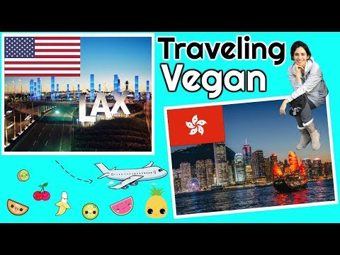 Traveling from L.A to Hong Kong #VEGAN ✈️