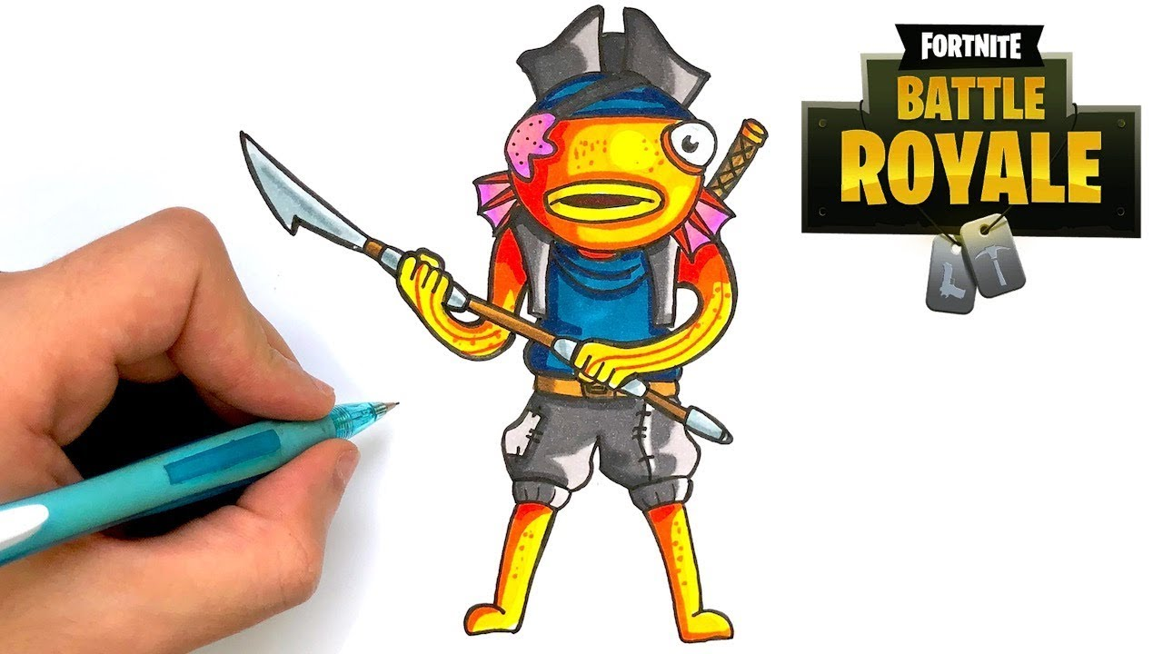 Comment Dessiner Le Poiscaille Pirate Fortnite Saison 8 Youtube