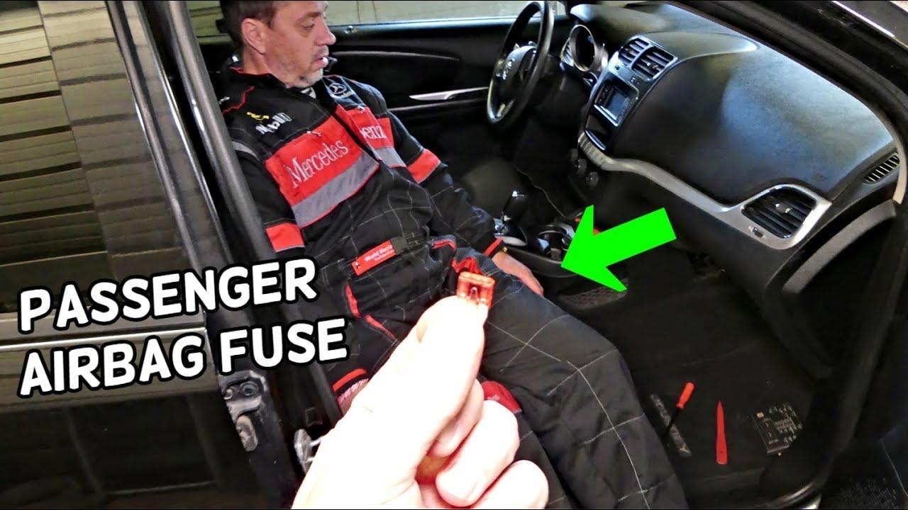 Dodge Journey Passenger Airbag Occupancy Sensor Fuse Location