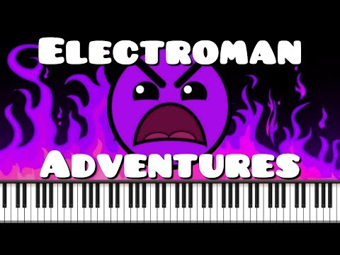 Synthesia [Piano Tutorial] Electroman Adventures - Waterflame (Geometry Dash Lvl 13)