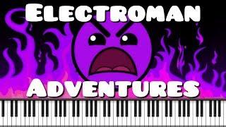 Synthesia Piano Tutorial Electroman Adventures Waterflame Geometry Dash Lvl 13