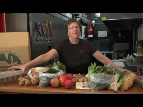 Hood River Organics winter box from Nora's Table Restaurant