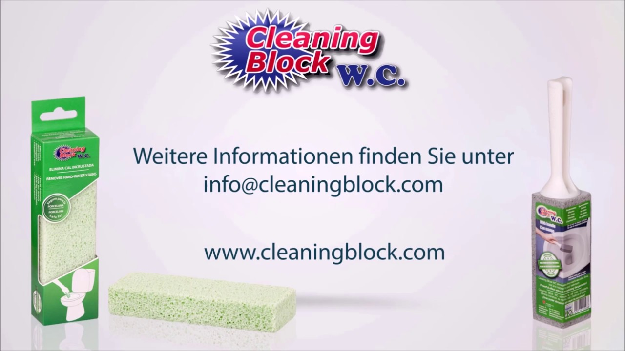 Cleaning Block WC Reinigunsstein Deutsch - YouTube