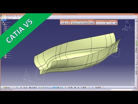 ship part 2 catia v5 gsd training multi section surface youtube. Black Bedroom Furniture Sets. Home Design Ideas