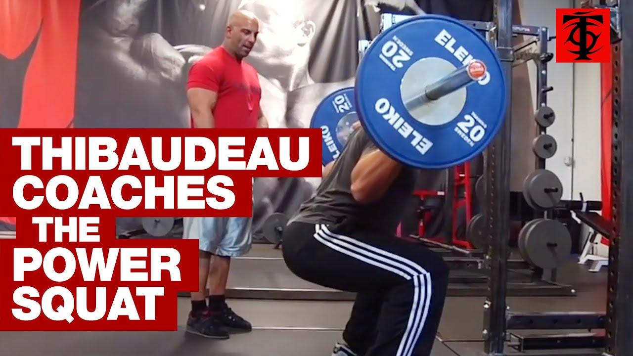 Power Squat Machine Bodybuilding Leg Exercise Example
