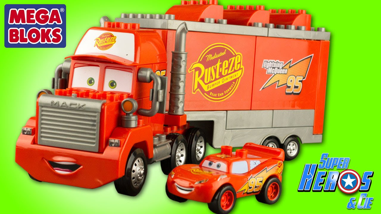 disney cars mack truck mega bloks camion flash mcqueen rayo mcqueen jouet review toys for kids. Black Bedroom Furniture Sets. Home Design Ideas