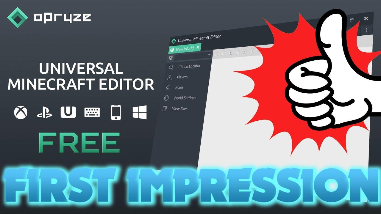 Universal Minecraft Editor First Impression (New Free Minecraft Console  Editing Tool)