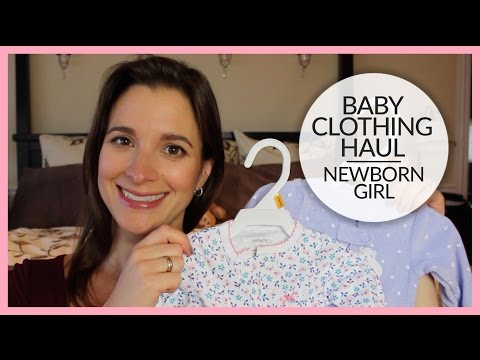 Baby Clothing Haul | Newborn Girl | Carter's & Baby Gap
