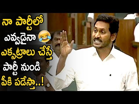 AP CM Ys Jagan Strong Counter To His Party Leaders || AP Assembly Sessions 2019 || Life Andhra Tv