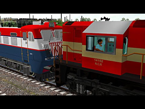 Loco Failed of BOXNHL Freight Train Rescue By JHS WDM3B | Indian Train Simulator | MSTS Open Rails