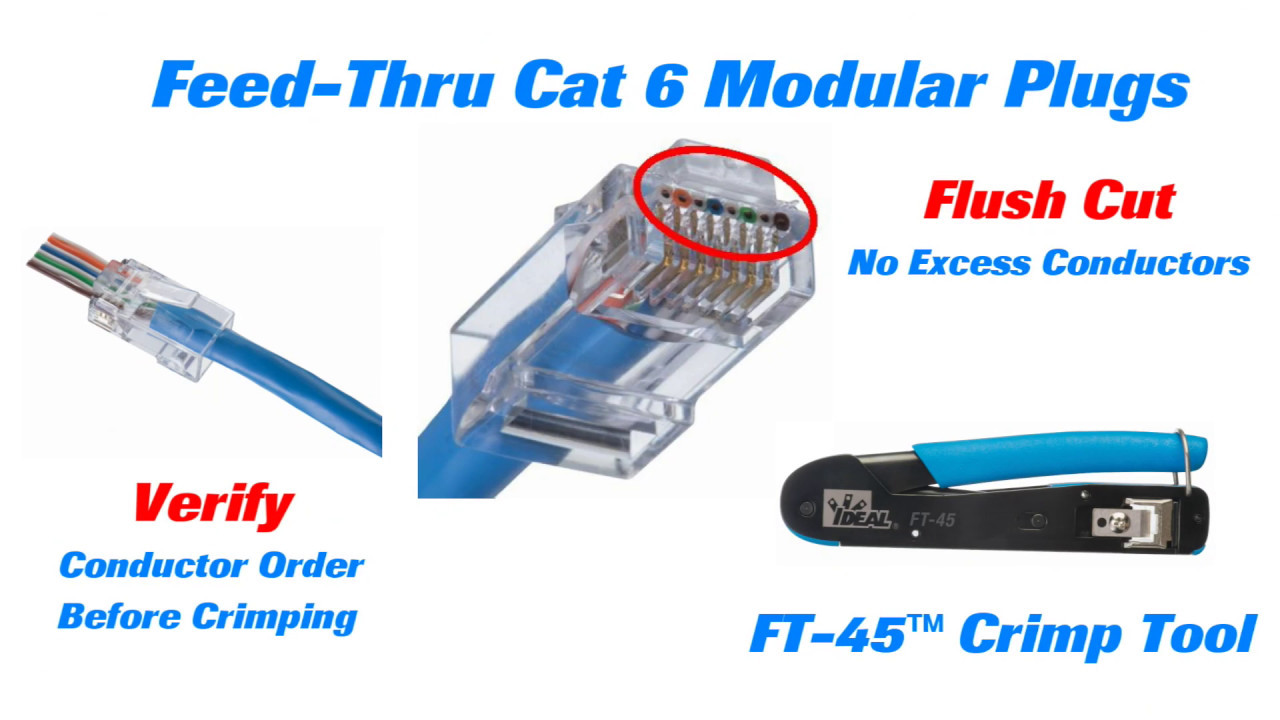 IDEAL Cat 6 Feed Thru Modular Plugs Long YouTube 1280 x 720 jpeg maxresdefault.jpg