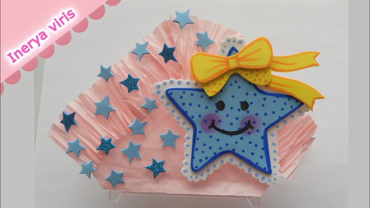 o decorar Servilleteros para Baby Shower ESTRELLA BEBE