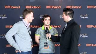 #06 David Sagamoniantc Interview; V-Drums World Championship 2012