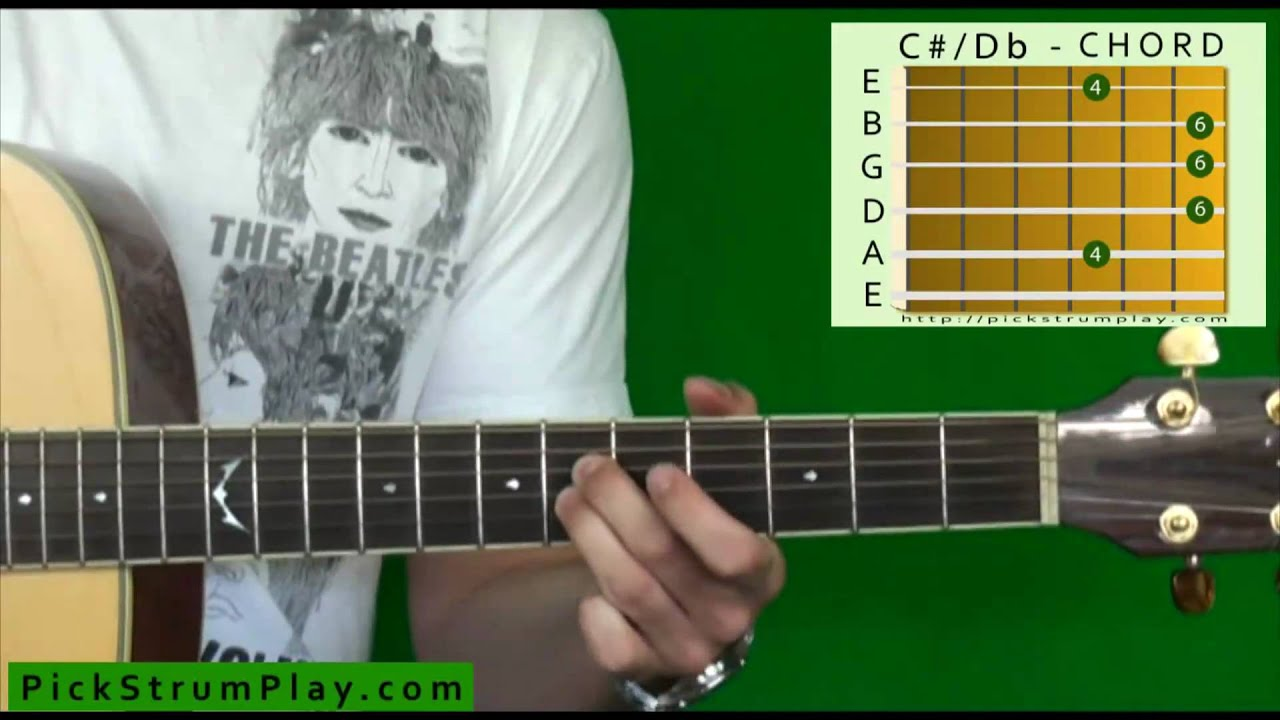 How to Play a C Sharp / D Flat Major Chord on Guitar