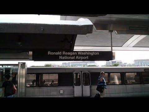 Ronald Reagan Airport Metro Station - Washington DC Metro Yellow/Blue lines