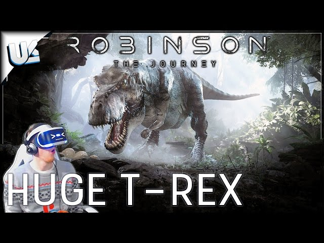 DINOSAUR STAMPEDE & HUGE T-REX! | ROBINSON THE JOURNEY VR | PS4 PSVR Gameplay
