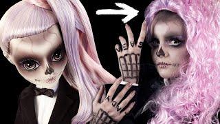 Я ЗОМБИ Гага на HALLOWEEN! / МАКИЯЖ Хэллоуин / Make-up Tutorial ZOMBY GAGA