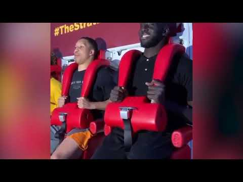 In The Zone - VIDEO: Tacko Fall's First Time on a Roller Coaster