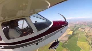 Tito y Silverio aterrizando en Acarigua