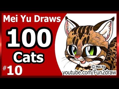 fun2draw 100 cats- cute winking cat logo