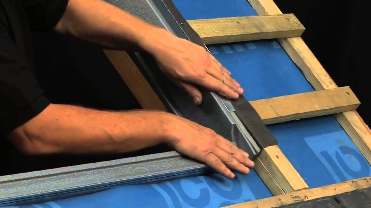 How to install a velux roof window in a slate roof at standard.