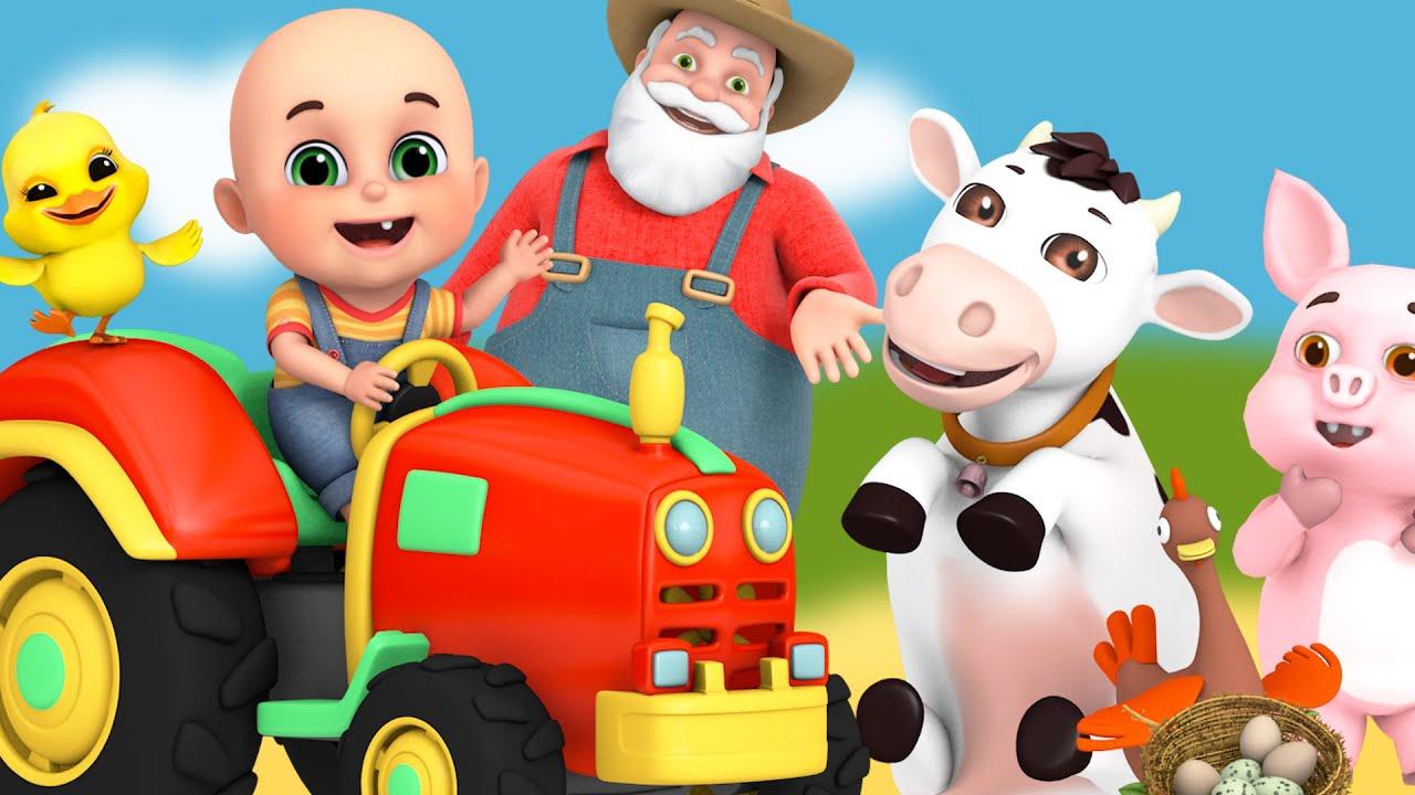 Download Old Macdonald Had a Farm - animal sounds   cartoon for kids   Jugnu Kids nursery rhymes & blocks