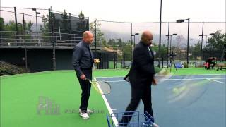 Dr. Phil and Steve Harvey Face Off: Book Signing and Tennis