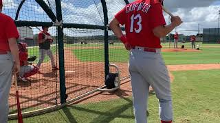 Video: Zack Thompson,  Cardinals prospect, during batting practice