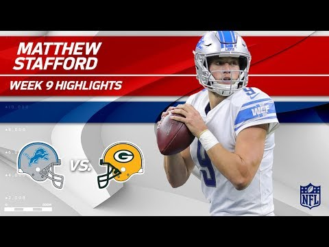 Matthew Stafford's Spectacular Game vs. Green Bay! | Lions vs. Packers | Wk 9 Player Highlights