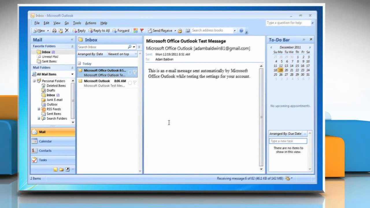 How to setup multiple Email accounts in Outlook 2007 on a Windows® 7 PC - YouTube