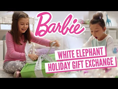 Opening Holiday Presents: White Elephant Gift Exchange! | Barbie