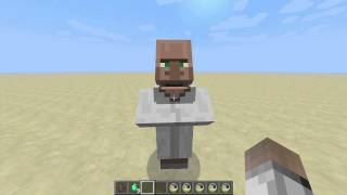 Talking villagers in 13w22a / Говорящие жители в Minecraft 13w22a