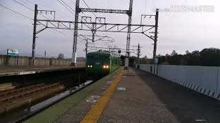 国鉄型117系湖西線蓬莱駅発車シーン(音量注意)