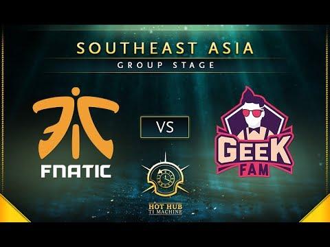 Fnatic vs Geek Fam - TI7: SEA Regional Qualifiers Group Stage - @LysanderXonora