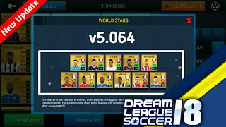Dream League Soccer 2018 New Update v5.064(World Stars + Special Pro Players)
