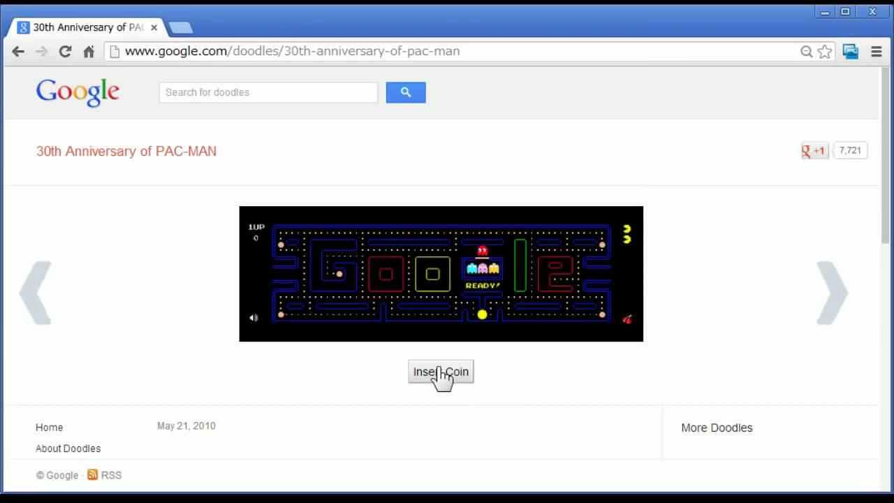 Google 隠しコマンド PackMan ゲームで遊ぶ - YouTube