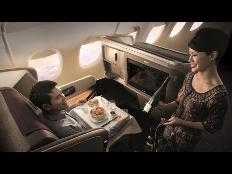 SINGAPORE AIRLINES Business Class REVIEW | CHRISTMAS decoration on the plane! | Seoul to Singapore