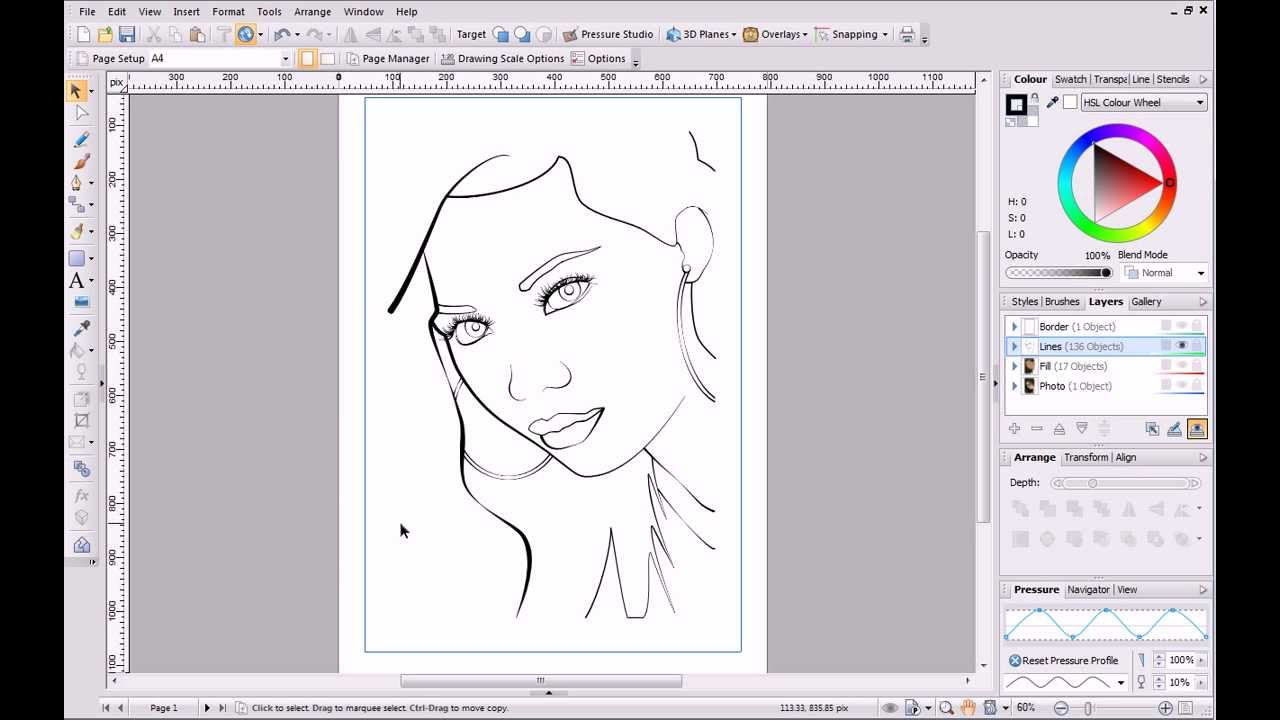 Line Art Coreldraw Tutorial : Serif drawplus tutorial pen and pencil drawing youtube