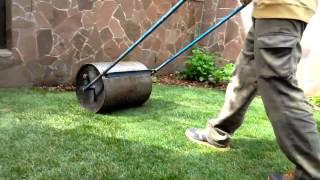 СадОК - Укладка рулонного газона, укатывание газона катком(, 2017-01-31T12:47:05.000Z)