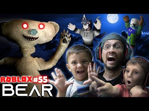 SCARY ROBLOX GAME!  BEAR CHASE! 🐻 = 🏃 FGTeeV Creepy Hide and