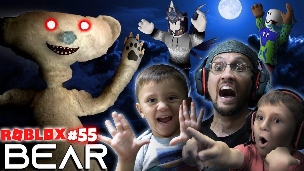 Scary Roblox Game Bear Chase Fgteev Creepy Hide And Seek 55