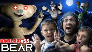 SCARY ROBLOX GAME!  BEAR CHASE! 🐻 = 🏃 FGTeeV Creepy Hide and Seek (#55) Video
