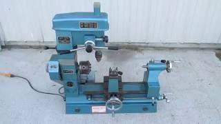 nice chizhou model hq 400 multi purpose lathe drill press milling machine combo