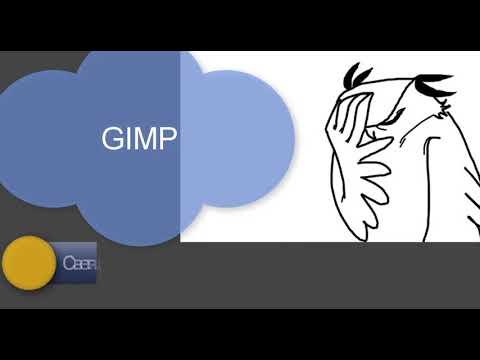 Светящийся текст: Gimp #1