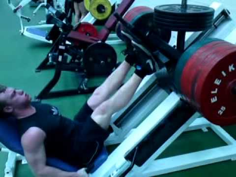 350kg Leg Press for 12 Reps
